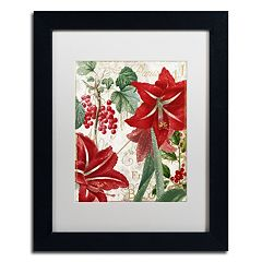 Trademark Fine Art Amaryllis 'Paris' Black Framed Wall Art