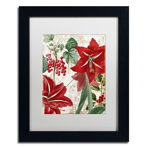 "Trademark Fine Art Amaryllis ""Paris"" Black Framed Wall Art"