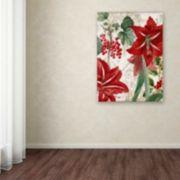 "Trademark Fine Art Amaryllis ""Paris"" Canvas Wall Art"