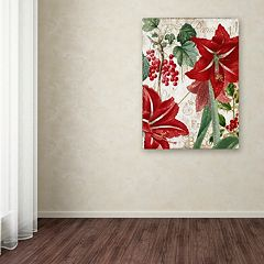 Trademark Fine Art Amaryllis 'Paris' Canvas Wall Art