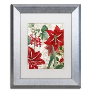 "Trademark Fine Art Amaryllis ""Paris"" Silver Finish Framed Wall Art"