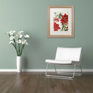 "Trademark Fine Art Amaryllis ""Paris"" Distressed Framed Wall Art"