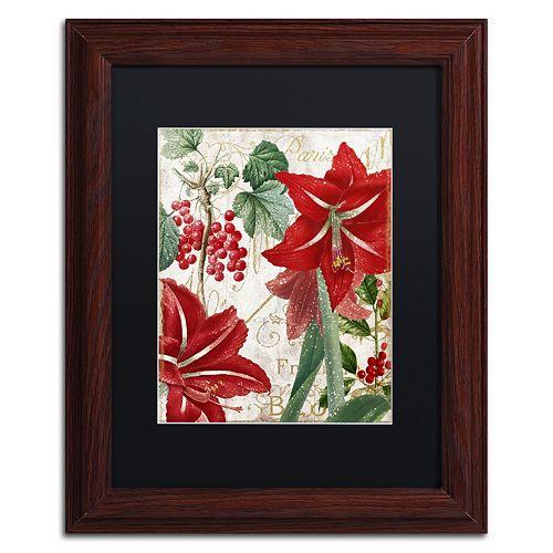 """Trademark Fine Art Amaryllis """"Paris"""" Framed Wall Art"""