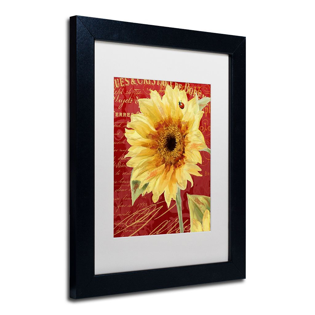 Trademark Fine Art Ladybug Black Framed Wall Art