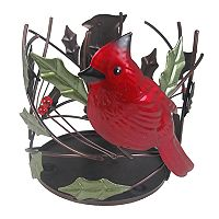 SONOMA Goods for Life™ Large Holly Leaves & Cardinal Candle Jar Holder