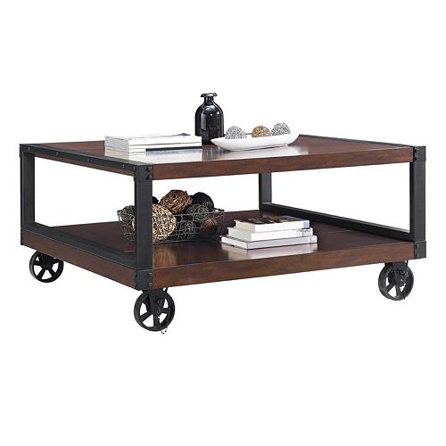 altra wade rolling coffee table. Black Bedroom Furniture Sets. Home Design Ideas