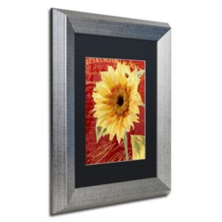 Trademark Fine Art Ladybug Silver Finish Framed Wall Art