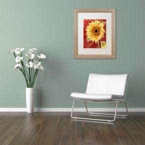 Trademark Fine Art Ladybug Distressed Framed Wall Art