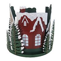 SONOMA Goods for Life™ Large Pine Trees & Houses Candle Jar Holder