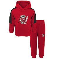 Baby Wisconsin Badgers Fullback Fleece Hoodie & Sweatpants Set