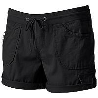 Juniors' Unionbay Christy Roll-Tab Midi Shorts