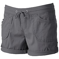 Juniors' Unionbay Christy Roll-Tab Midi Shorts