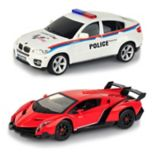 Braha 1:24 Remote Control Full-Function Sports Cars Lamborghini Veneno VS BMW Policecar