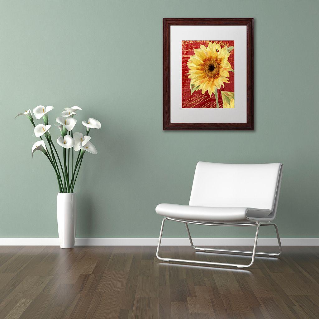 Trademark Fine Art Ladybug Framed Wall Art