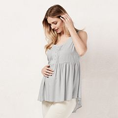 Maternity LC Lauren Conrad Lace-Trim Tunic
