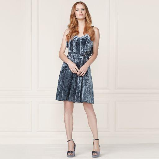 LC Lauren Conrad Runway Collection Velvet Popover Slip Dress - Women's