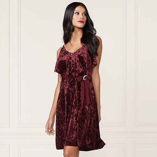 LC Lauren Conrad Runway Collection Velvet Popover Slip Dress - Women's