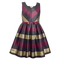 Girls 7-16 Bonnie Jean Striped Squareneck Dress