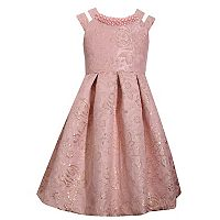 Girls 7-16 Bonnie Jean Double Strap Brocade Dress