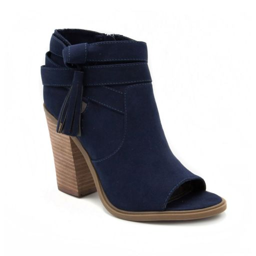 Rampage Promise Women's Peep Toe Ankle Boots