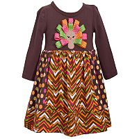 Girls 7-16 Bonnie Jean Turkey Applique Dress
