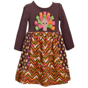 Girls 7-16 Bonnie Jean Turkey Applique Dress