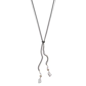 Simply Vera Vera Wang Long Double Strand Knotted Necklace
