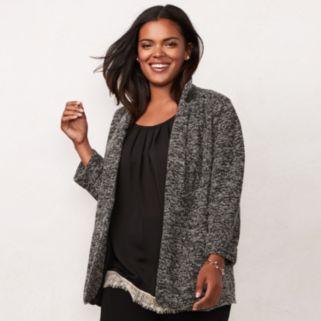 Plus Size LC Lauren Conrad Knit Blazer