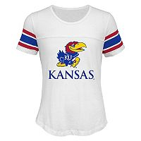 Girls 7-16 Kansas Jayhawks Team Pride Burnout Tee