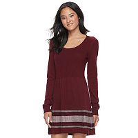 Juniors' Cloud Chaser Ribbed Sweater Dress
