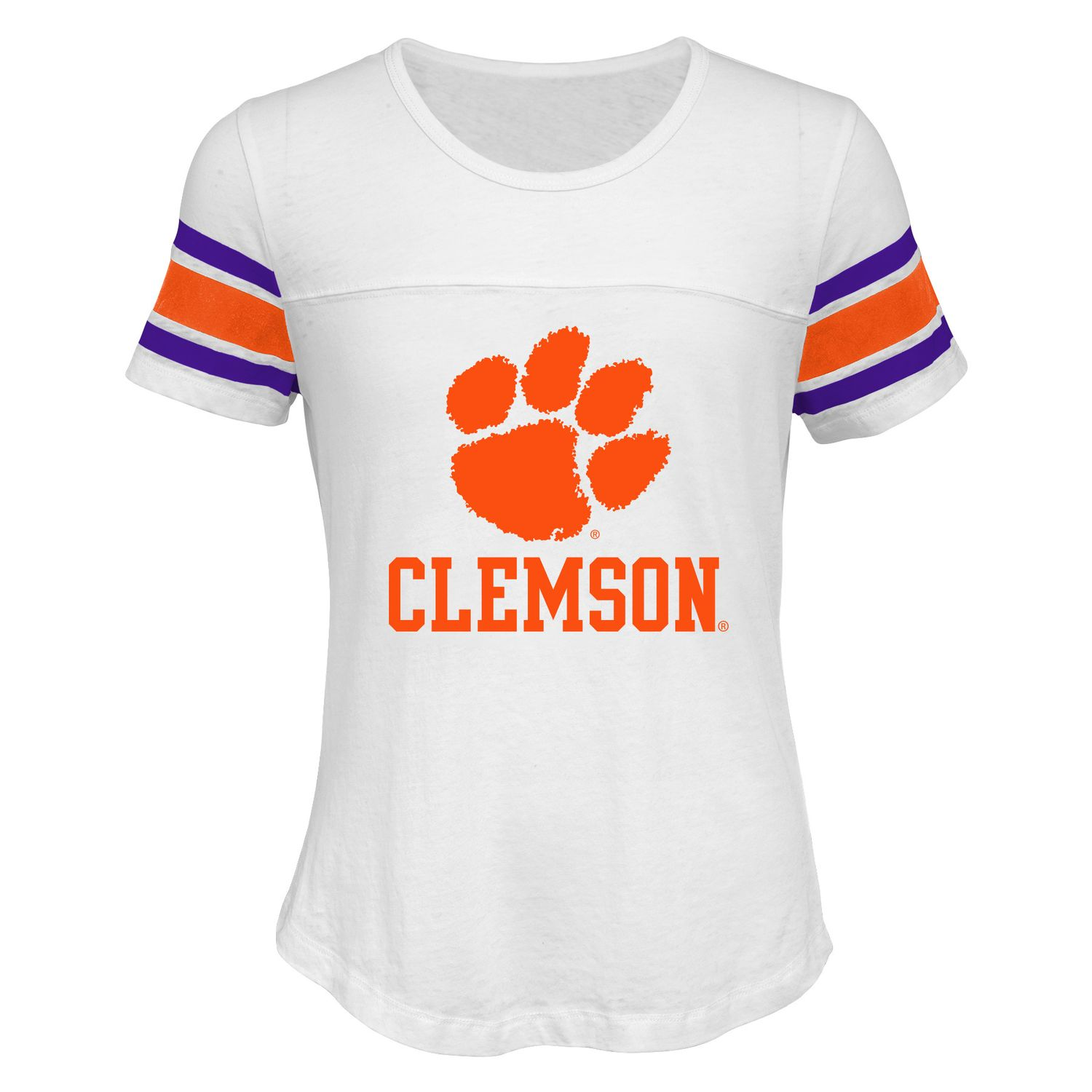 Girls 7 16 Clemson Tigers Team Pride Burnout Tee