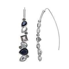 Simply Vera Vera Wang Geometric Stone Threader Earrings