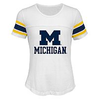 Girls 7-16 Michigan Wolverines Team Pride Burnout Tee