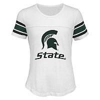 Girls 7-16 Michigan State Spartans Team Pride Burnout Tee