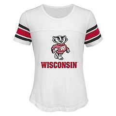 Girls 7-16 Wisconsin Badgers Team Pride Burnout Tee