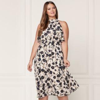 LC Lauren Conrad Runway Collection Ruffle Midi Dress - Plus Size