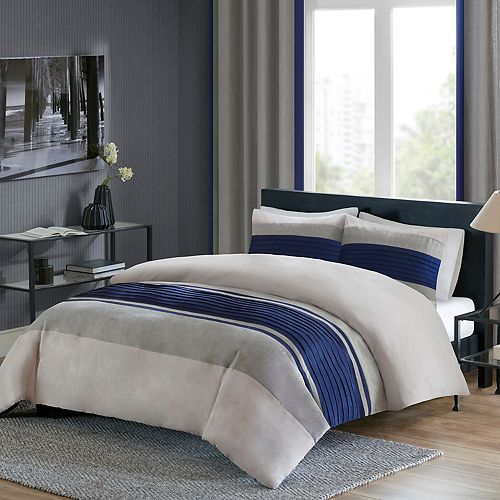 Madison Park 3-piece Clark Duvet Cover Set