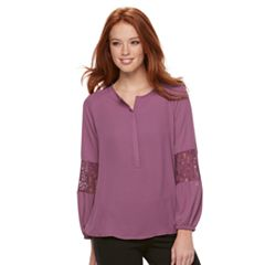 Women's Apt. 9® Lace Detail Pullover Blouse