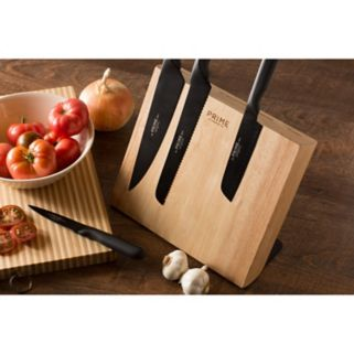 Prime by Chicago Cutlery 5-pc. Magnetic Black Oxide Knife Block Set