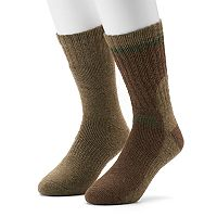 Men's GOLDTOE PowerSox 2-pack Wool-Blend Crew Socks