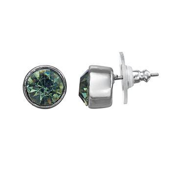 Simply Vera Vera Wang Nickel Free Blue Faceted Stone Round Stud Earrings
