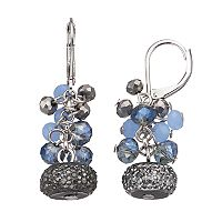 Simply Vera Vera Wang Beaded Cluster Nickel Free Drop Earrings