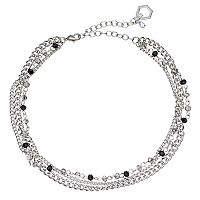 Simply Vera Vera Wang Beaded Multi Strand Choker Necklace