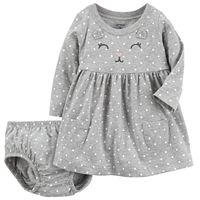 Baby Girl Carter's Gray Cat Dress