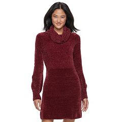 Juniors' Cloud Chaser Cowlneck Sweater Dress