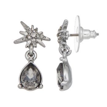 Simply Vera Vera Wang Starburst & Faceted Teardrop Earrings