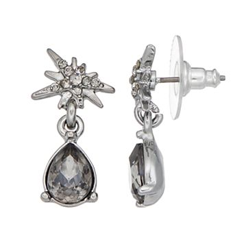 Simply Vera Vera Wang Nickel Free Starburst & Faceted Teardrop Earrings