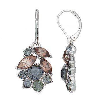 Simply Vera Vera Wang Nickel Free Faceted Stone Cluster Drop Earrings