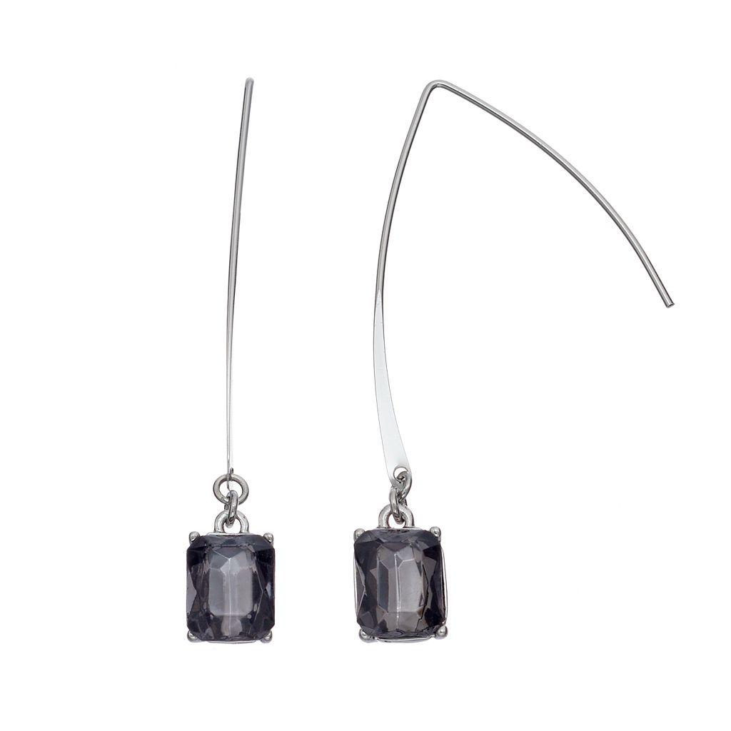 Simply Vera Vera Wang Nickel Free Blue Rectangular Stone Threader Earrings