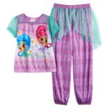 "Girls 4-8 Shimmer & Shine ""Born to Dance"" Top & Bottoms Pajama Set"